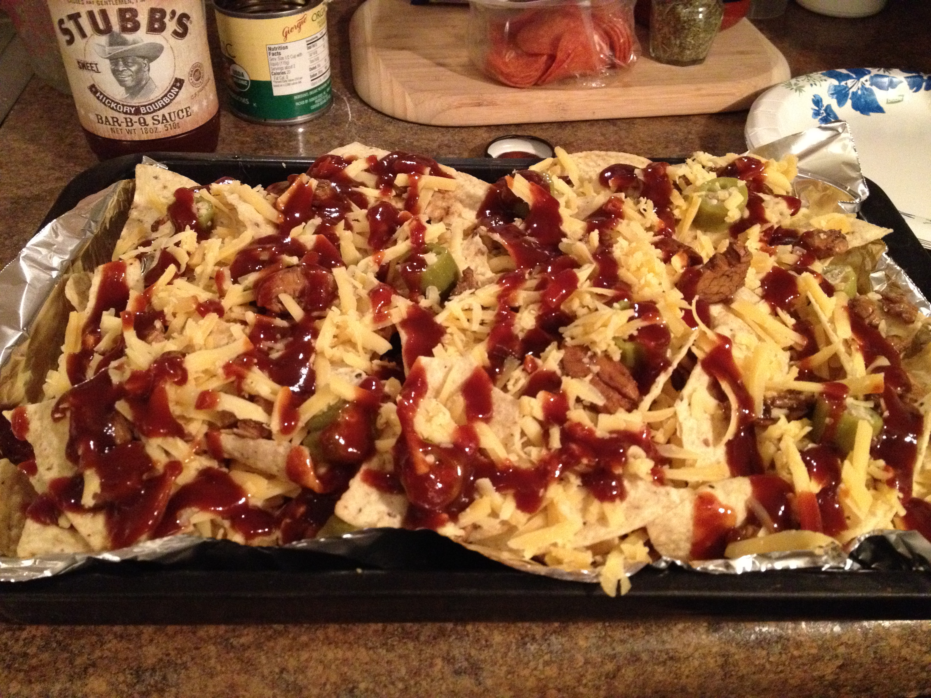 ... Marinated Barbeque Chicken Nachos » Super Bowl – BBQ Chicken Nachos