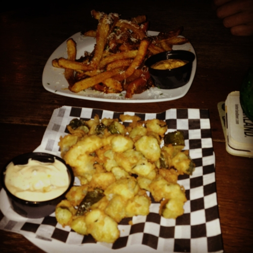 Mermaid Tavern - Fried Pickles and Black Truffle Fries